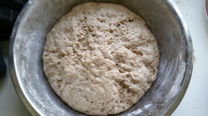 pâte à pains naans après levée