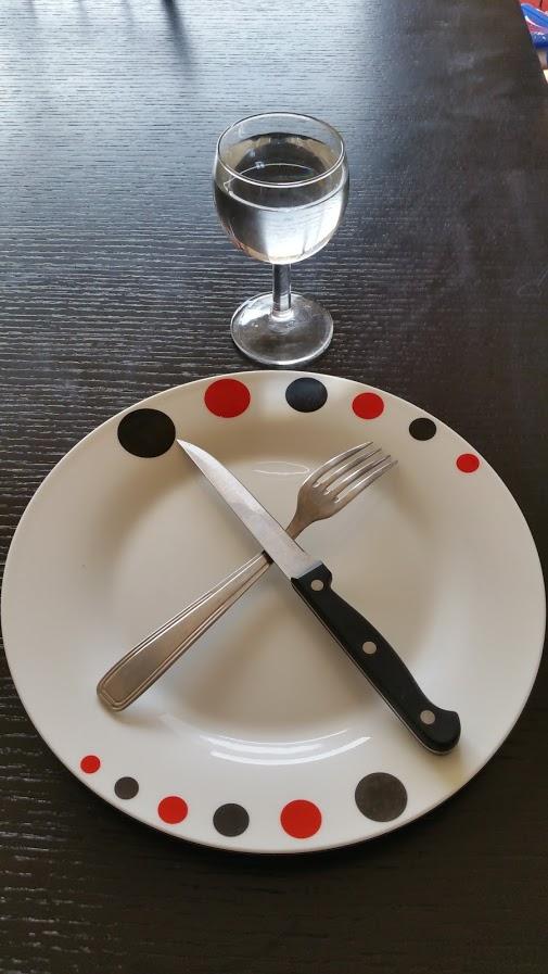 jeûne assiette vide