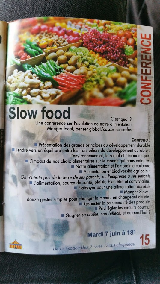 conférence Slow Food