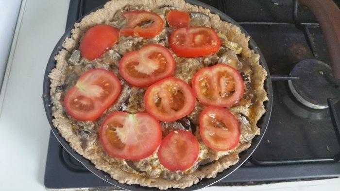tarté légumes 1e couche tomates