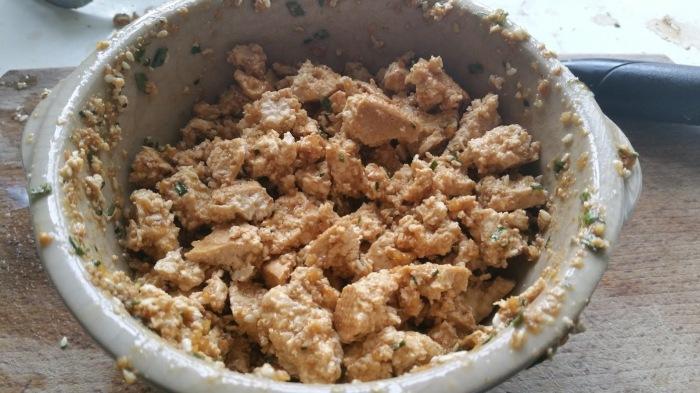 tofu émietté mariné