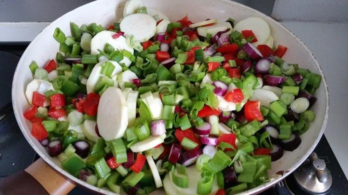 légumes à poeler pour bruschettas