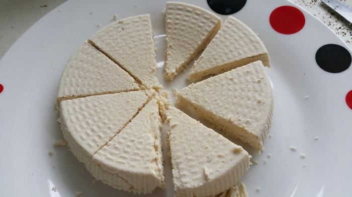 tofu découpé